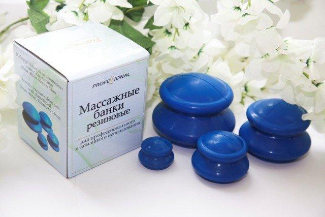 Банки для вакуумного массажа из антиаллергенной резины (4 шт/уп)