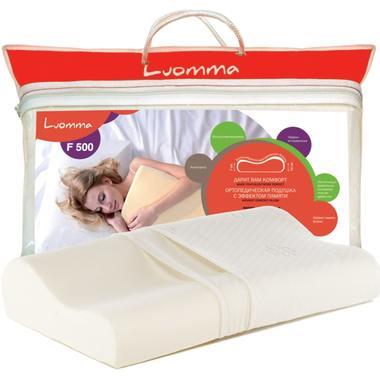 Подушка с эффектом памяти LumF-500. 30х48 см. Валики 7 и 10 см LUOMMA LUMF-500