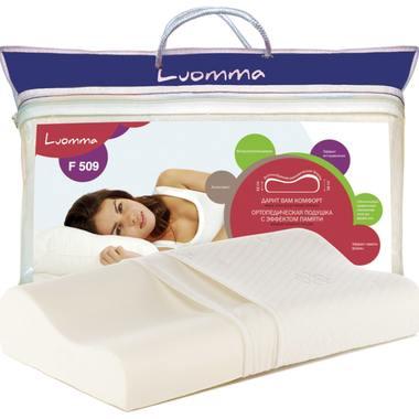 Подушка с эффектом памяти LumF-509. 35х55 см. Валики 12 и 14 см LUOMMA LUMF-509