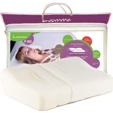 Подушка с эффектом памятии и выемкой под плечо LumF-502. 32х54 см. Валики 6 и 12 см LUOMMA LUMF-502